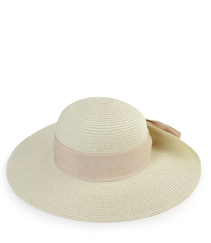 Bowknot Floppy Hat - White Floppy Hat - Urban State Indonesia
