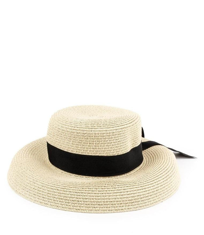 Straw Band Sunhat - Cream