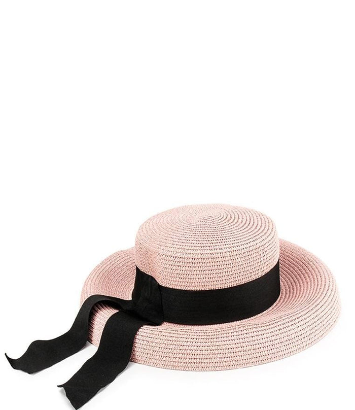 Straw Band Sunhat - Pink