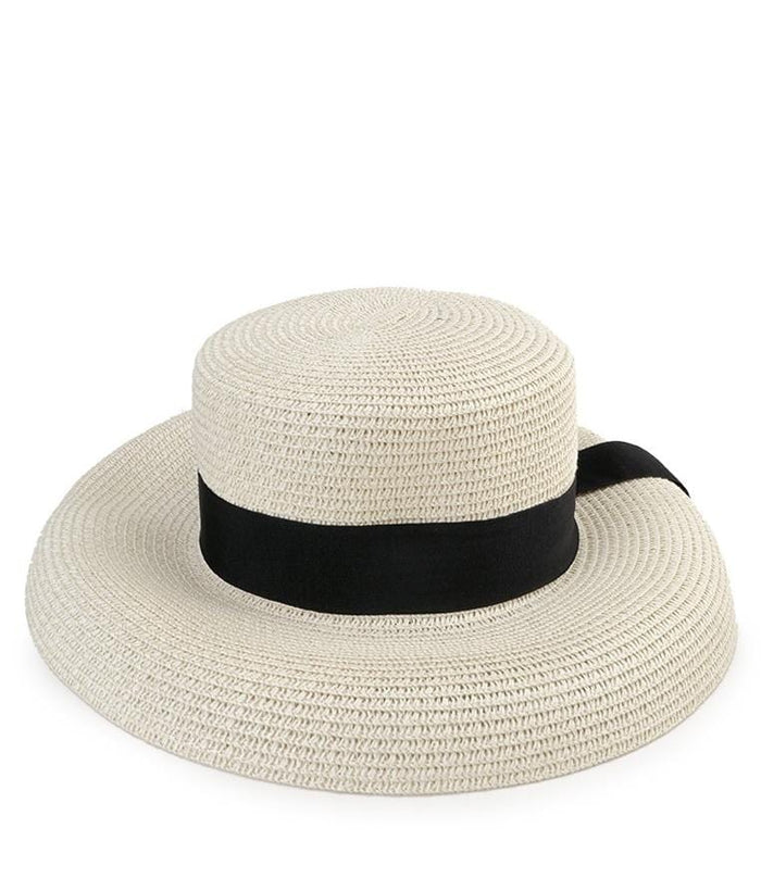 Straw Band Sunhat - White