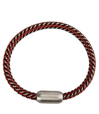 Contrast Woven Leather Bracelet - Red Bracelets - Urban State Indonesia