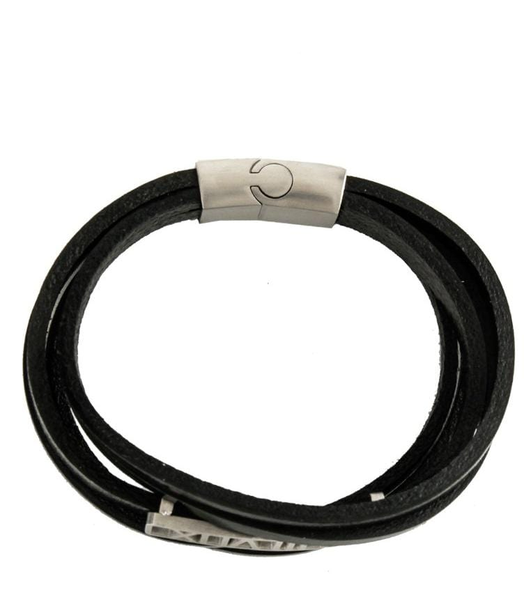 Multi-Layer Roman Leather Bracelet - Black Bracelets - Urban State Indonesia