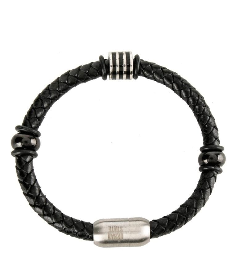 Multi-Bead Woven Leather Bracelet - Black Bracelets - Urban State Indonesia