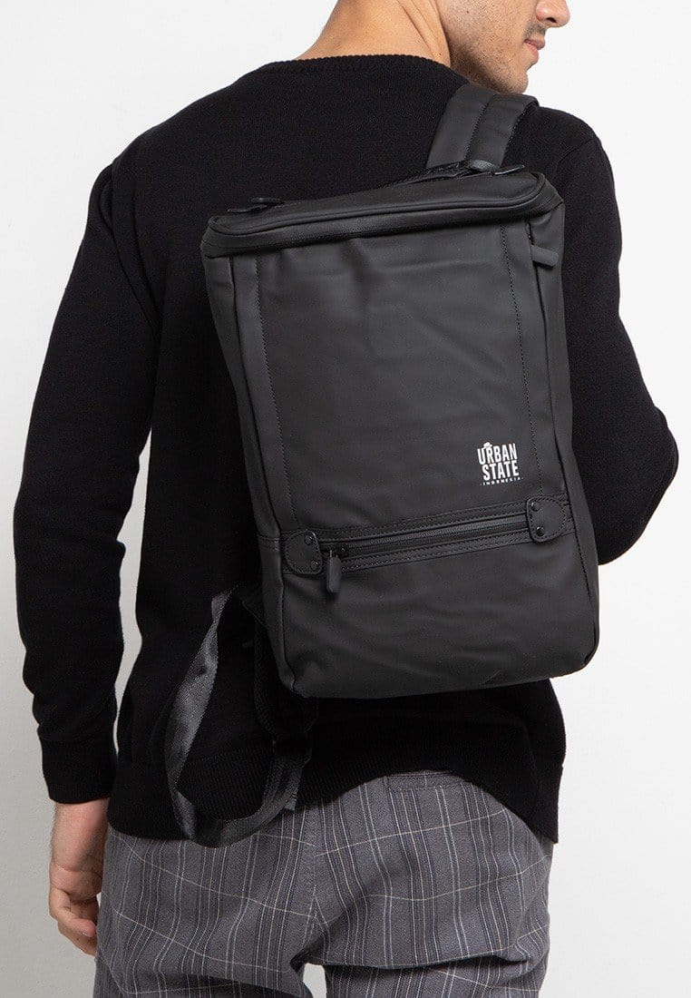 Coated Dry Slim Backpack - Black Backpacks - Urban State Indonesia