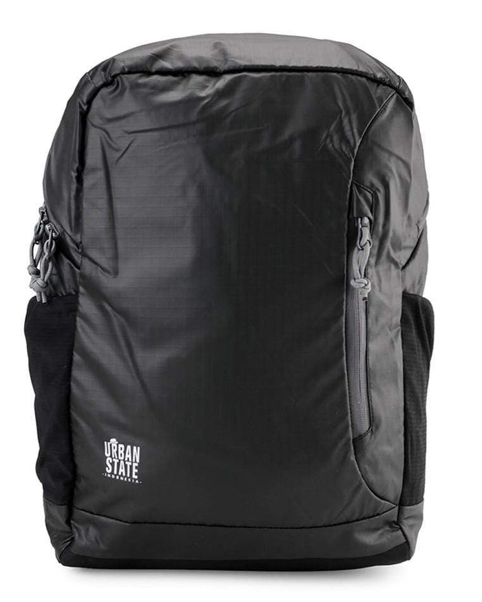 Poly Nylon Campus Backpack - Black Backpacks - Urban State Indonesia