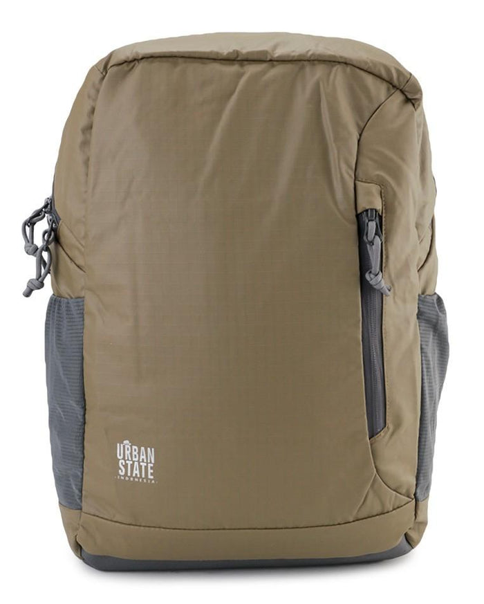 Poly Nylon Campus Backpack - Brown