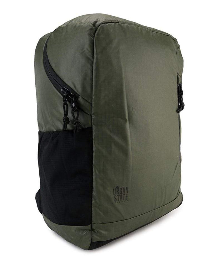 Poly Nylon Campus Backpack - Green Backpacks - Urban State Indonesia
