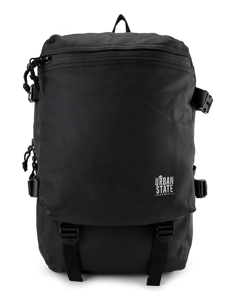 Coated Dry Strap Panel Backpack - Black Backpacks - Urban State Indonesia