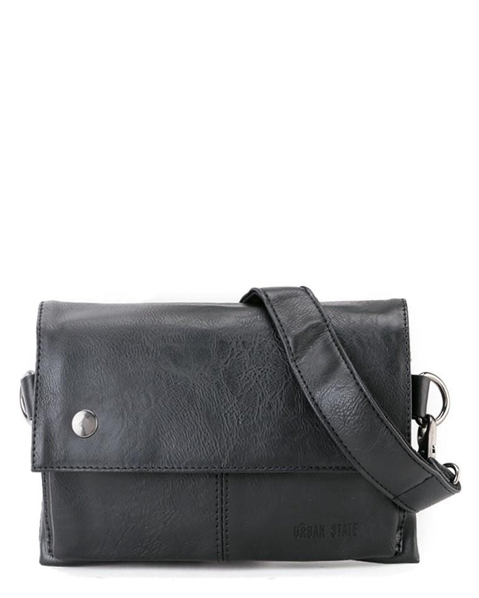 Distressed Leather Nomad Pouch Clutch - Black Clutch - Urban State Indonesia