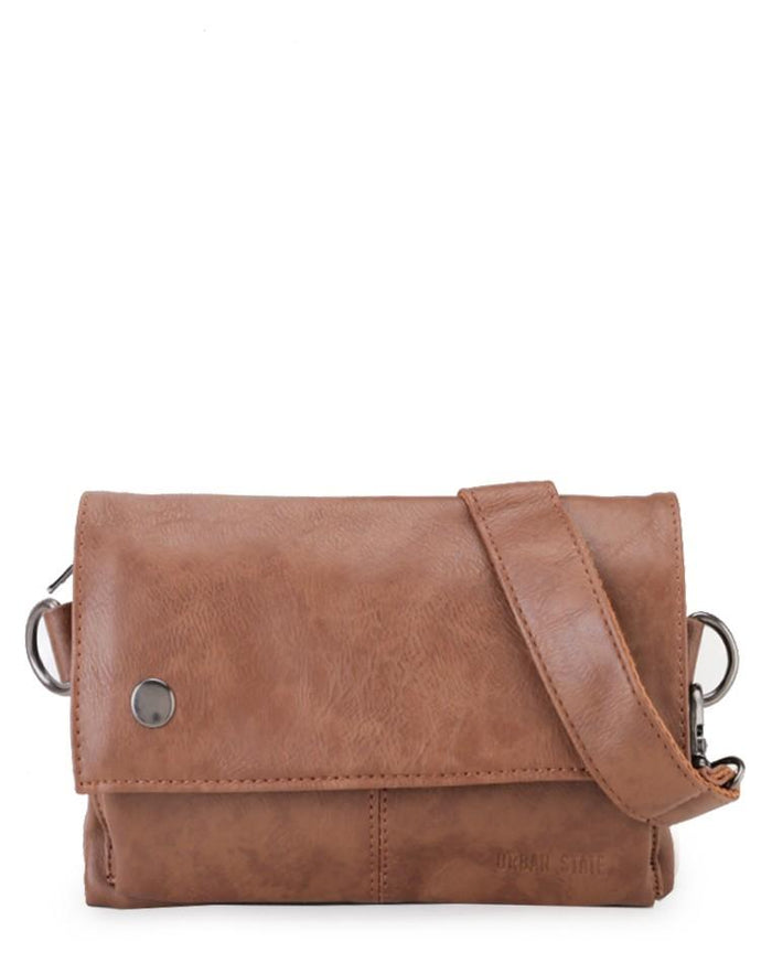 Distressed Leather Nomad Pouch Clutch - Camel Clutch - Urban State Indonesia