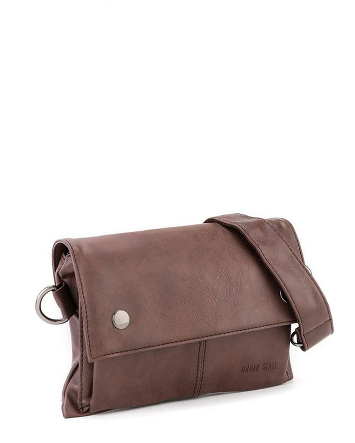 Distressed Leather Nomad Pouch Clutch - Dark Brown Clutch - Urban State Indonesia