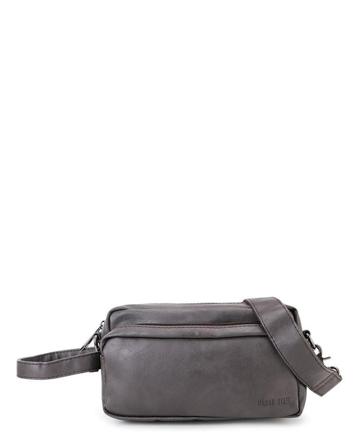 Distressed Leather Flight Crossbody Pouch - Brown Clutch - Urban State Indonesia