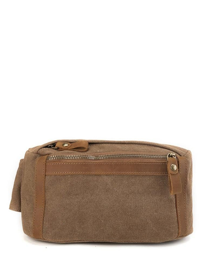 Canvas Top Grain Panel Waistpack - Camel Waist Packs - Urban State Indonesia