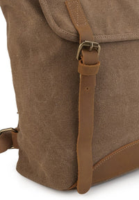 Canvas Top Grain Tote Backpack - Camel Backpacks - Urban State Indonesia