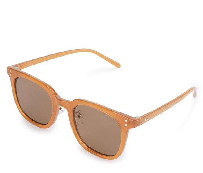Vintage Retro Rectangular Sunglasses - Brown Brown Sunglasses - Urban State Indonesia