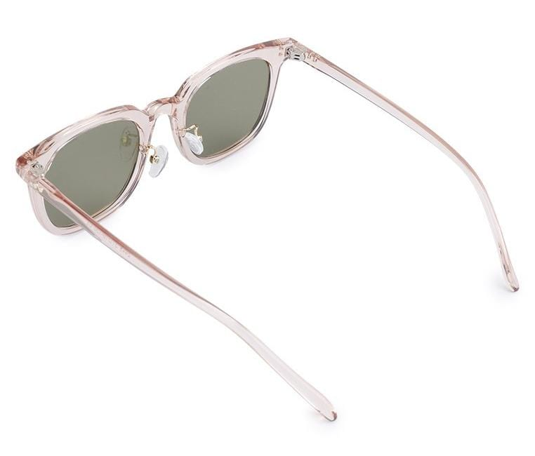 Vintage Retro Rectangular Sunglasses - Green Rosegold Sunglasses - Urban State Indonesia