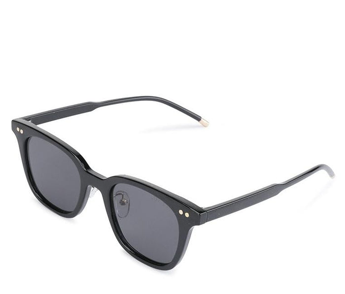 Vintage Retro Framed Sunglasses - Black Glossy Sunglasses - Urban State Indonesia