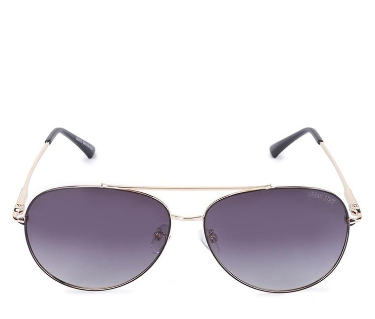 Polarized Oval Lead Aviator Sunglasses - Brown Gold Sunglasses - Urban State Indonesia