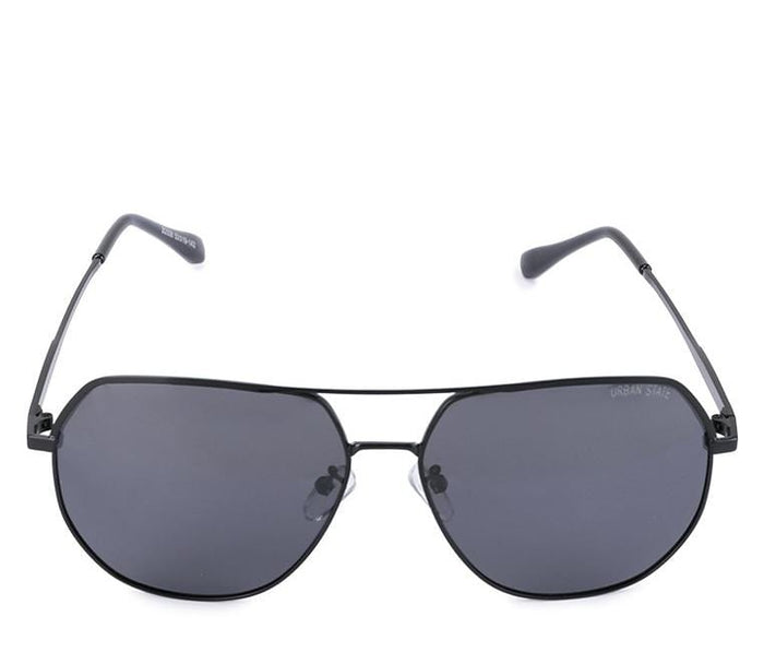 Polarized Edge Bar Oval Aviator Sunglasses - Black Black Sunglasses - Urban State Indonesia