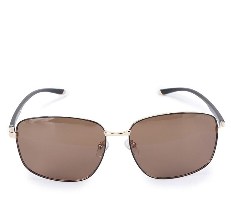 Polarized Oversized Rounded Frame Sunglasses - Brown Gold Sunglasses - Urban State Indonesia