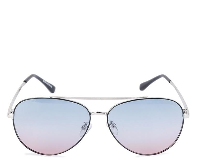 Polarized Wide Lead Aviator Sunglasses - Rainbow Silver Sunglasses - Urban State Indonesia