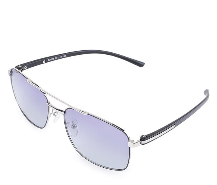 Polarized Aviator Contrast Frame Lead Sunglasses - Purple Silver Sunglasses - Urban State Indonesia