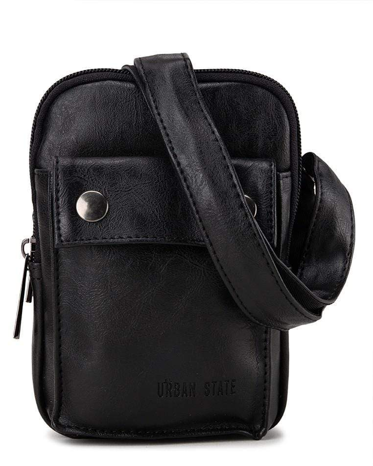 Pu Pocket Flap Waist Pouch - Black Waist Packs - Urban State Indonesia