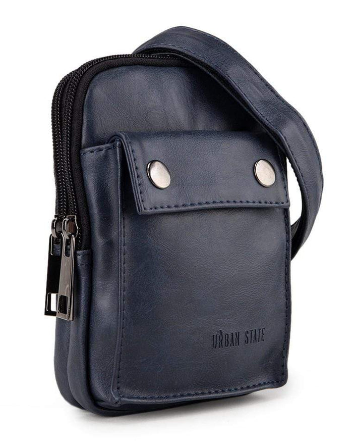 Pu Pocket Flap Waist Pouch - Navy Waist Packs - Urban State Indonesia