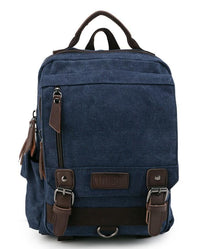 Canvas PU Buckle Slingbag - Navy