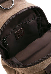 Canvas PU Explorer Slingbag - Brown
