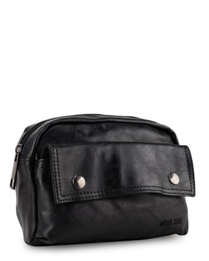 Pu Pocket Flap Waist Pack - Black Waist Packs - Urban State Indonesia