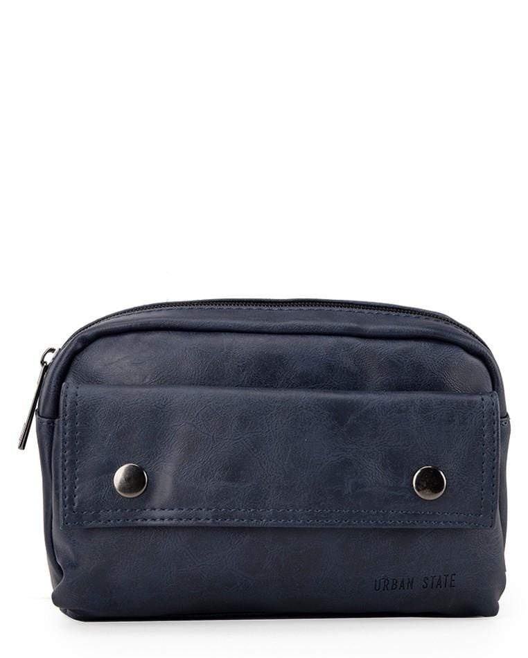 Pu Pocket Flap Waist Pack - Navy Waist Packs - Urban State Indonesia