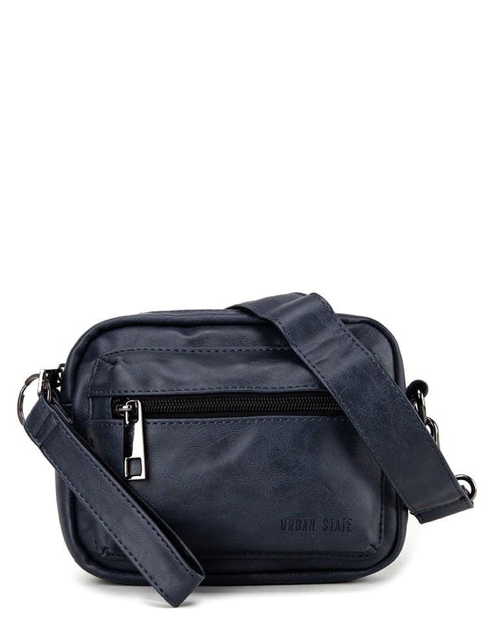 Pu Flight Mini Crossbody Bag - Navy Messenger Bags - Urban State Indonesia