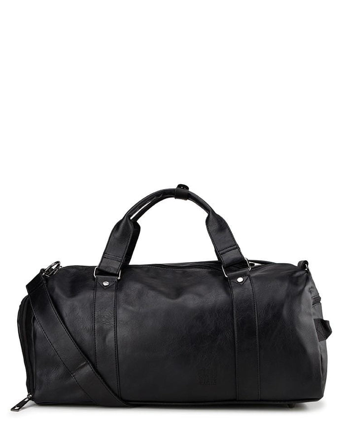 Distressed Leather Carryall Duffel Bag - Black Duffel Bags - Urban State Indonesia