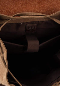 Canvas PU Buckled Flap Backpack - Brown Backpacks - Urban State Indonesia