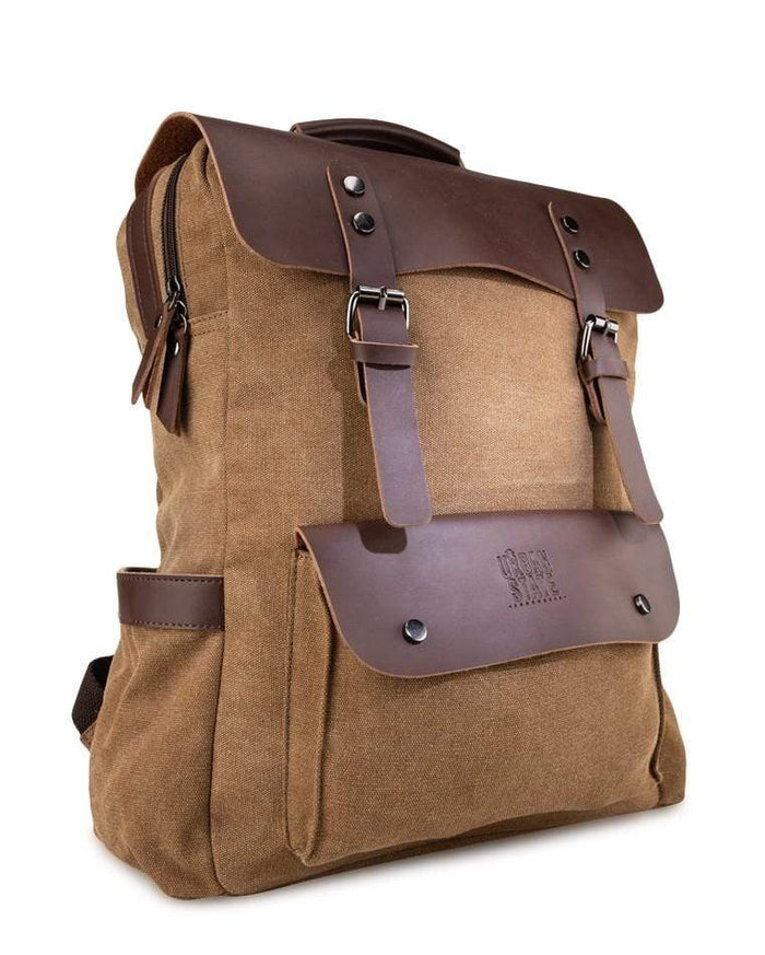 Canvas PU Explorer Backpack - Brown Backpacks - Urban State Indonesia