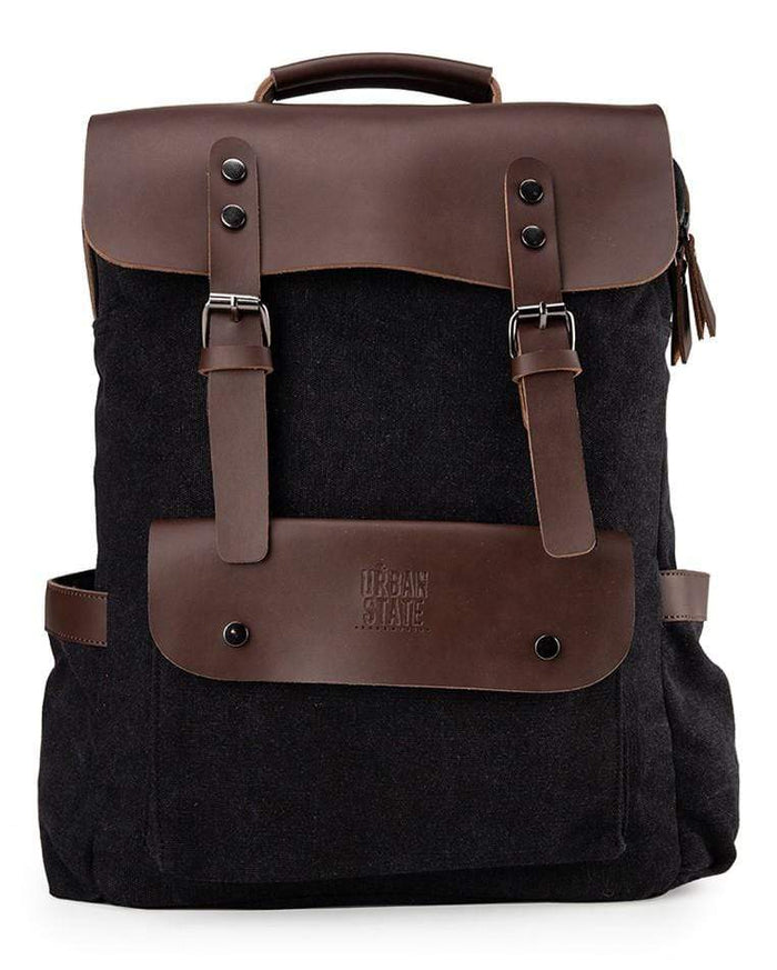 Canvas PU Explorer Backpack - Black Backpacks - Urban State Indonesia