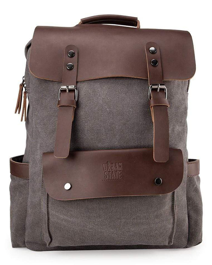 Canvas PU Explorer Backpack - Grey Backpacks - Urban State Indonesia