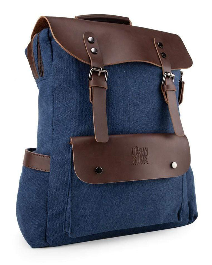 Canvas PU Explorer Backpack - Navy Backpacks - Urban State Indonesia