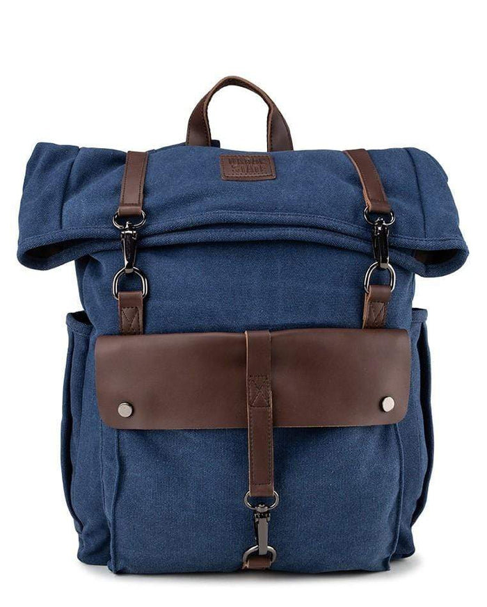 Canvas PU Rucksack Backpack - Navy Backpacks - Urban State Indonesia