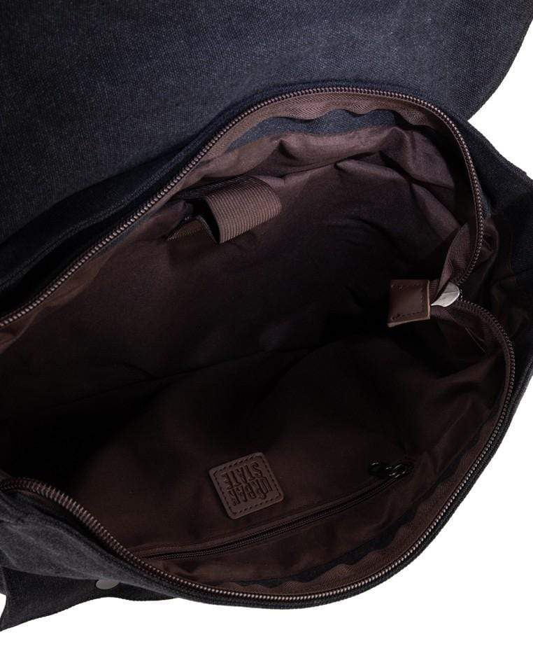 Canvas PU Explorer Messenger Bag - Black Messenger Bags - Urban State Indonesia
