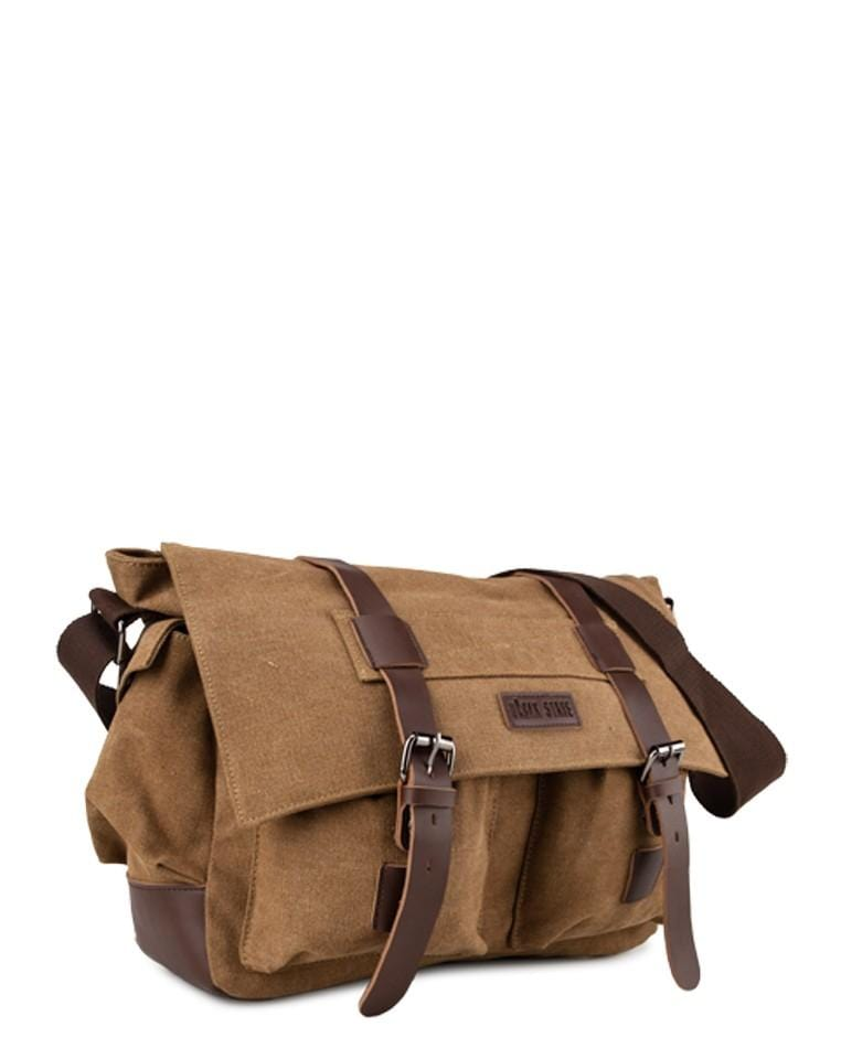 Canvas PU Explorer Messenger Bag - Brown Messenger Bags - Urban State Indonesia