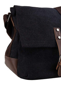 Canvas PU Explorer Crossbody Bag - Black Crossbody Bag - Urban State Indonesia