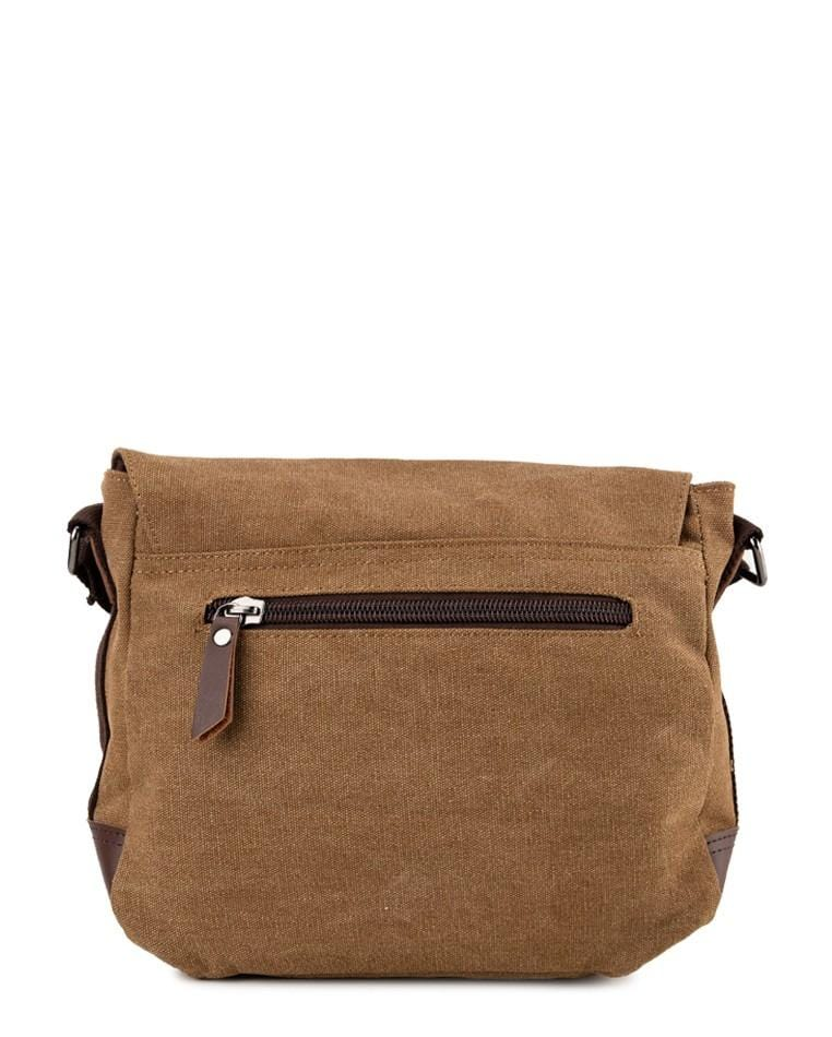 Canvas PU Explorer Crossbody Bag - Brown Crossbody Bag - Urban State Indonesia