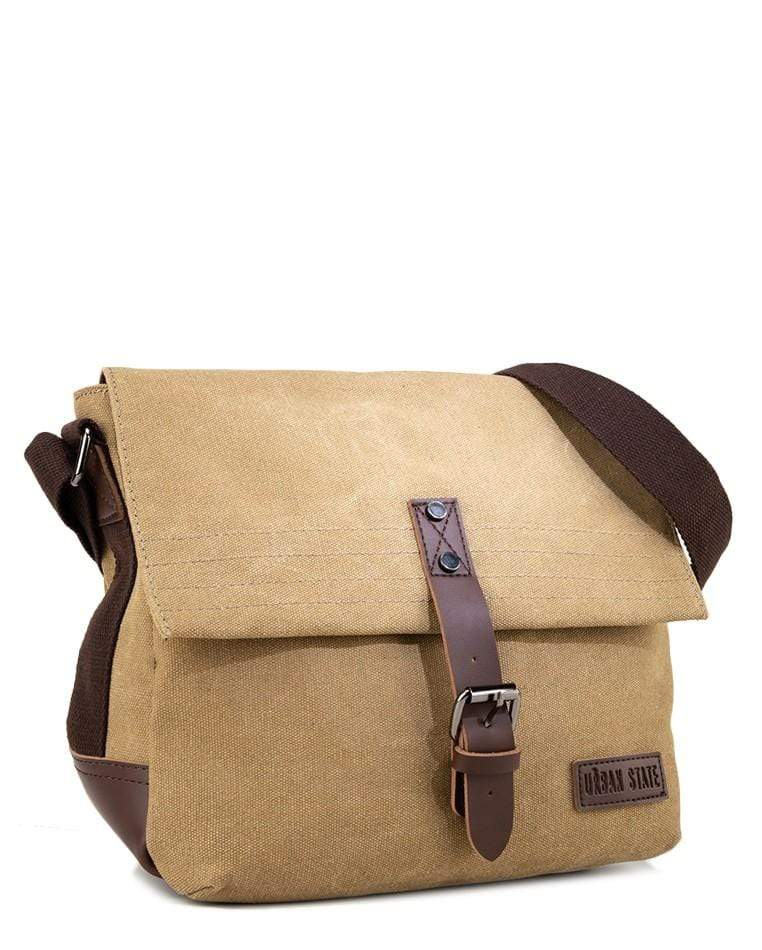 Canvas PU Explorer Crossbody Bag - Khaki Crossbody Bag - Urban State Indonesia