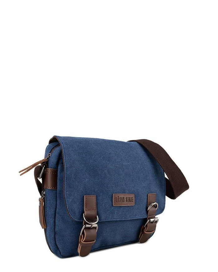 Canvas PU Buckle Crossbody Bag - Navy Crossbody Bag - Urban State Indonesia
