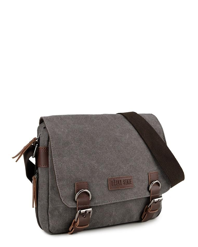 Canvas PU Buckle Crossbody Bag - Grey Crossbody Bag - Urban State Indonesia