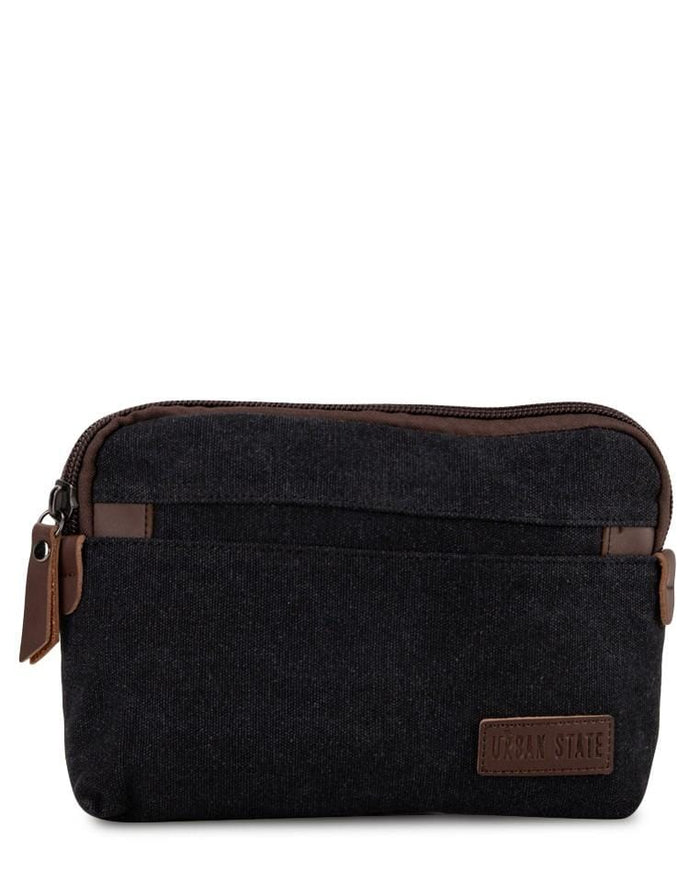 Canvas PU Wrislet Pouch - Black Pouch - Urban State Indonesia