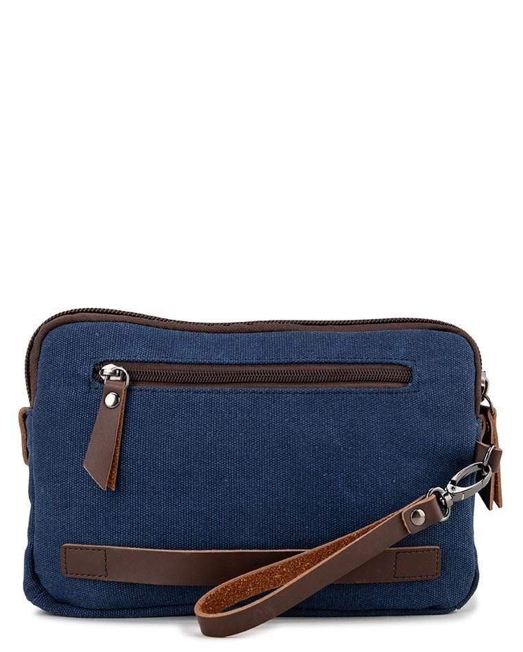 Canvas PU Wrislet Pouch - Navy Pouch - Urban State Indonesia
