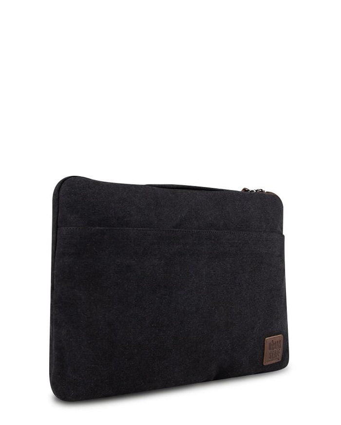 Canvas PU Laptop Sleeve - Black Tote Bag - Urban State Indonesia